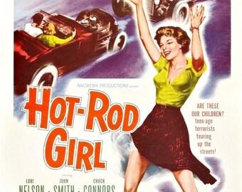 Spring Sales Event: Hot Rod Girl Movie Poster XXX Biker Exploitation