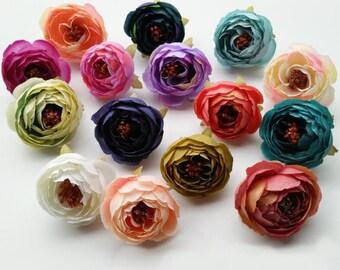 Handcraftsinstudio etsy studio wholesale silk peony flower heads 300 flowers quality silk flowers bulk simulation tea rose for crafts diy wedding home decoration msmk chht mightylinksfo