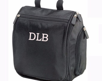 Monogrammed Toiletry Bag / Hanging Cosmetic Bag/ Hanging toiletry Bag