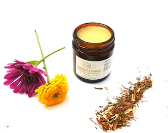 Chickweed & Plantain Salve with Healing Herbs, All Natural, Flare Ups,  Rashes, Itchy Skin, Insect Bites,