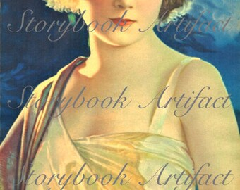 Rare Early 1900's Print - Digital Art Copy - from Antique Calendar - Burlesque Cabaret Flapper Gatsby Art Deco