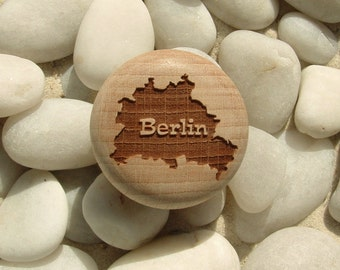 Furniture Knob Berlin Engraving Furniture Knob-furniture button-Beech