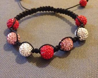 Valentine's Day shamballa bracelet
