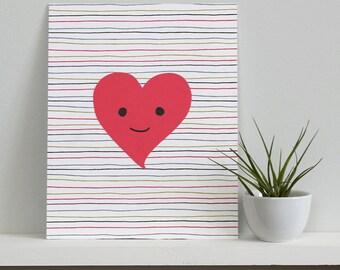 SALE - Happy Heart Print