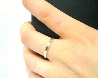 Silver stacking rings stack ring sterling silver ring stackable ring