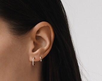 Gold Hoop Earrings, Hoop earrings, Silver Hoop earrings, Tiny Hoop Earrings, Small Hoop earrings, Gold Tiny Hoop, E054