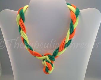 Sensory jewelry Size XSmall- Green, orange, yellow Bright colors