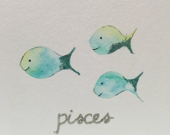 Pisces Baby and Child Zodiac Picture