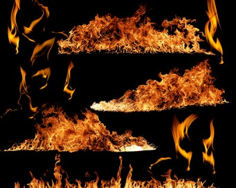 Designer Gems - FIRE OVERLAYS - (12) Flat .png files - Photography Overlays For Your Photos and Quick Pages.