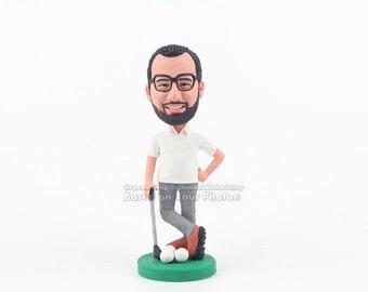 Custom golfer bobbleheads - Gift For Boyfriend, boyfriend gift, Christmas Gifts For Men, Birthday Gift For Men, Gift ideas for boyfriend