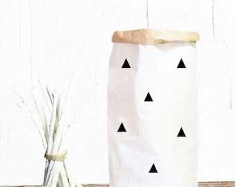 Paper bag laundry bag TOYS triangles