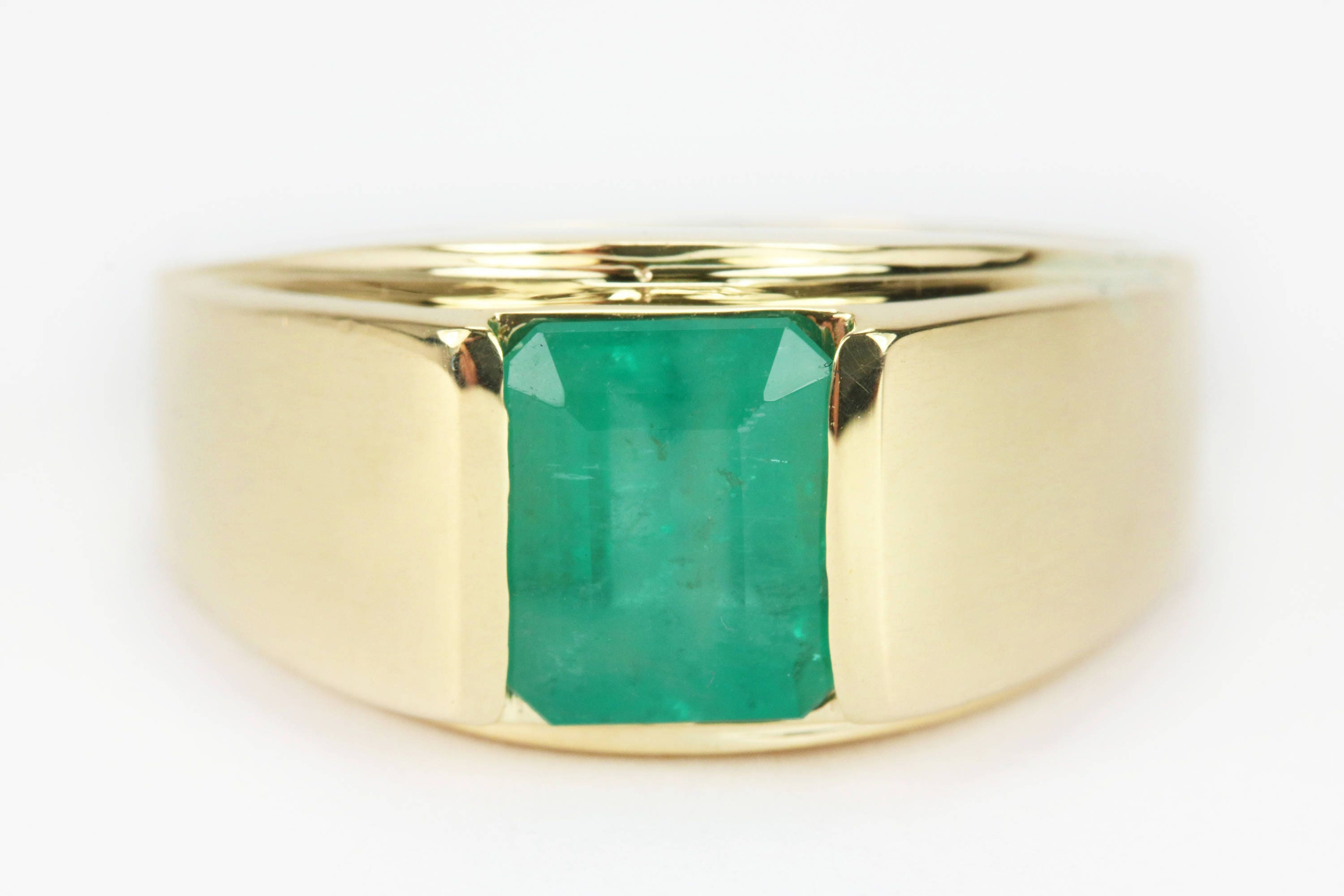 on love i band sides ring diamond emerald cutout mens you