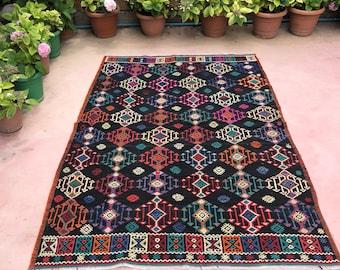"""Arrow rug, 96"""" x 64"""" , turkish arrow kilim , area rug , arrow , colorfull arrow rug , decorative rug"""