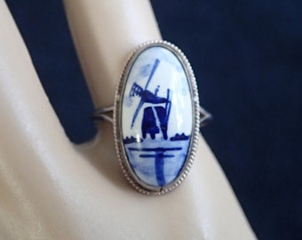 Delft Porcelain Ring