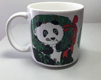 Vintage 1985 Taylor NG by Win NG Panda Christmas Mug