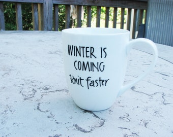 Winter is Coming - Knit Faster Mug for Coffee or Tea