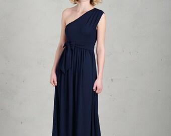 Long Bridesmaid Dress - Linnea, Dark Blue