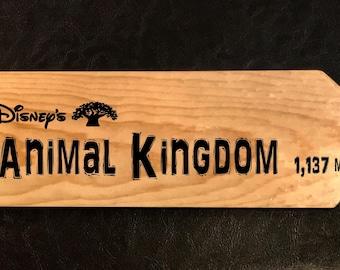 Custom sign to Animal Kingdom