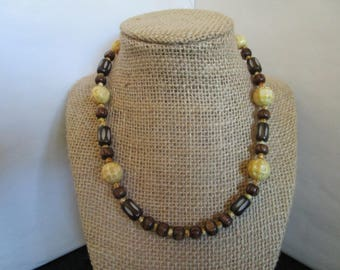 Brown & Beige Necklace