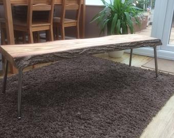 Stunning live oak coffee table