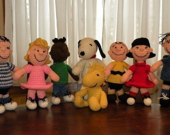 Instant download - SPECIAL OFFER - 4 amigurumi crochet pattern from Peanuts - Snoopy, Woodstock, Sally and Lucy