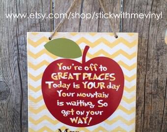 Classroom decor, teacher appreciation, teacher sign, appreciation gift, thank you teacher, personalized teacher sign, classroom sign