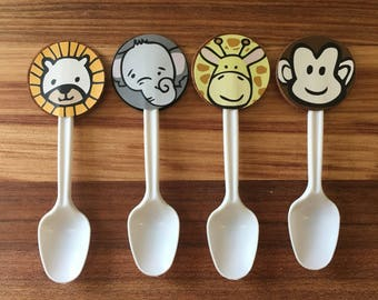 Baby / safari / jungle animals desert spoons