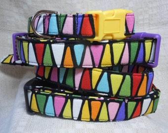 Large Dog Collar / Colorful Dog Collar / Cool Dog Collar / Unique Dog Collar /