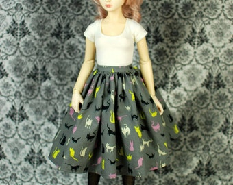 SD13 Grey Cat Skirt For SD BJD - One Only