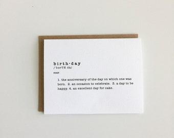 Birthday (definition card)