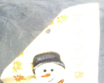 Snowman pin Christmas Tole