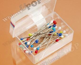 Dressmaker Pins, Stainless Steel Pins, 45PCS per Box, 30mm x 2mm (R7-133)