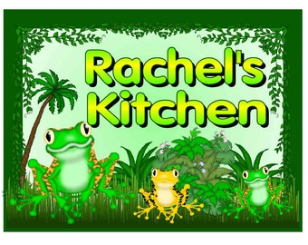 Personalized Frog Design Kitchen MAGNET ~ FREE SHIPPING