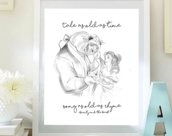 Beauty and the beast - A4 print