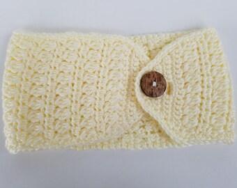 Crochet Clusters and Stripes Ear Warmer Headband PATTERN ONLY pdf instant digital download women's adjustable pistachio seasonal