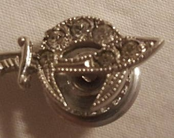 Sterling Silver 6 diamond Shriners pin