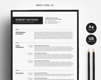 Clean Resume Template 4 Pages