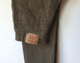 Levis Vintage 550 Jeans, Levis Vintage-Jeans, W 34 L30 grün