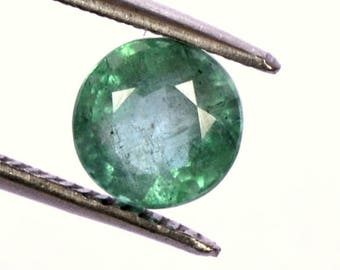 Certified Natural Emerald Round Cut 6 mm 0.76 CTS Green Shade Lustrous Loose Gemstone