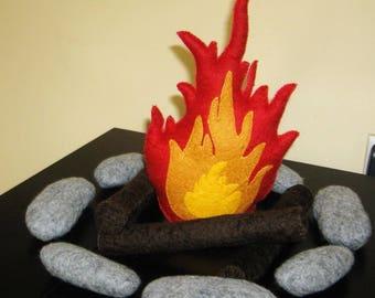 Felted Wool Campfire 100% Merino Wool