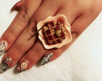 I Heart Waffles Ring
