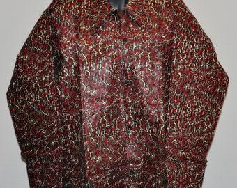 African print long sleeve Men shirt