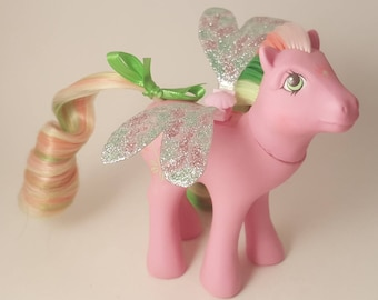 My Little Pony Alternate Rehair G1 Flutter Pony LILY with Glitter Wings!