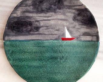 White Sails Plate
