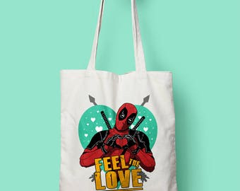 FEEL THE LOVE Shopping Bag designed by us, with love.