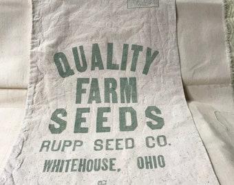 Vintage Farm Seed Sack Rupp Seed Co. Whitehouse, Ohio