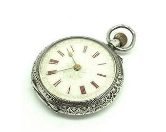 Antique Pocket Watch | Estate Pocket Watch | Silver Pocket Watch | Victorian Pocket Watch | Sterling Silver Pocket Watch | Wedding Watch