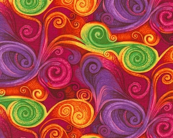 Dream-Fantasy Swirl  -Chong-a Hwang-Timeless Treasures- Quilt -Apparel-WindyRobinCotton- *Sold by half yard.
