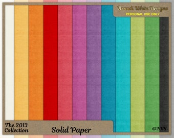 Solid Papers, Textured Paper, Textured Digital Backgrounds, Bright Colors