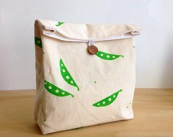 Snow Peas lunch bag / Travel bag